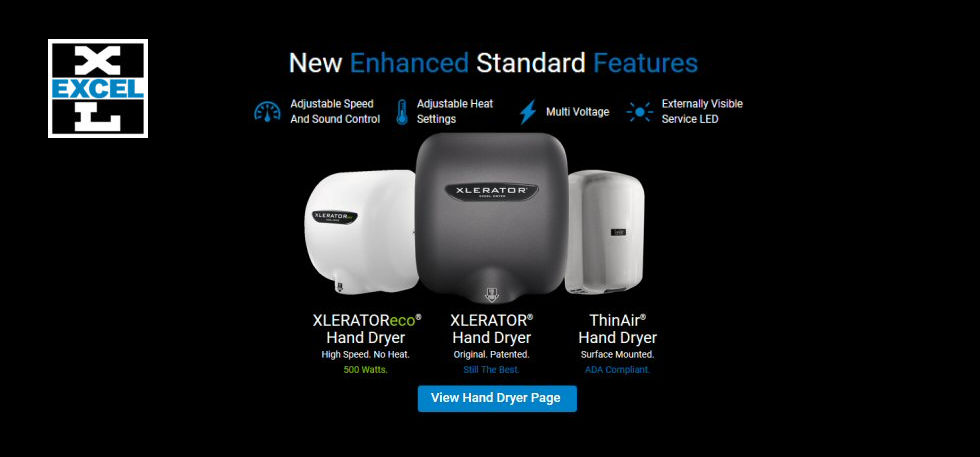 Excel Hand Dryer Made in USA