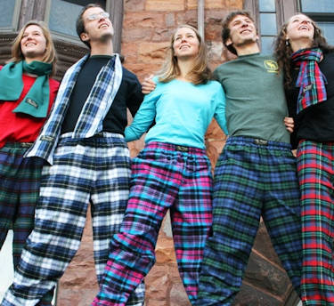 Flannel Lounge Pants Hand-Cut and Sewn in the USA for Christmas