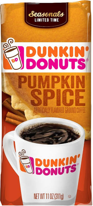 Dunkin' Donuts Pumpkin Spice Flavored Coffee