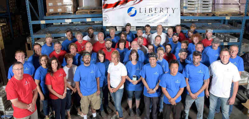 The hardworking men and women of Liberty Tabletop Made in the USA