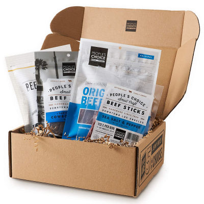 Fathers Day Made in USA Gifts Jerky Sampler