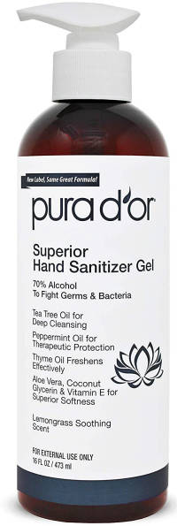 Hand Sanitizer Made in the USA Lemongrass Scent