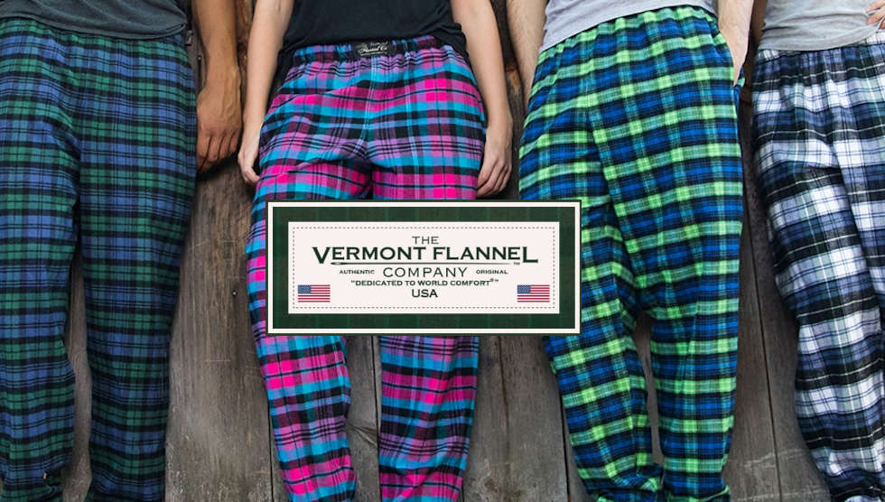Vermont Flannel Handcrafted in USA W/European Fabric