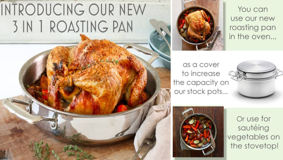 3 In 1 Roasting Pan from 360 Cookware