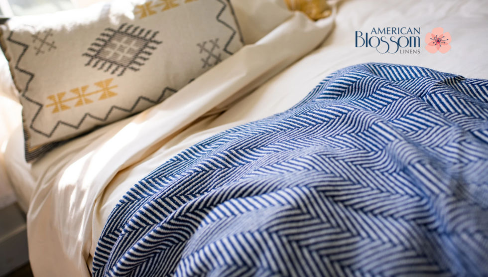 Blankets Made in USA by American Blossom Linens