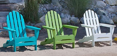 Adirondack Chairs Made in the USA. Perfect for summer.